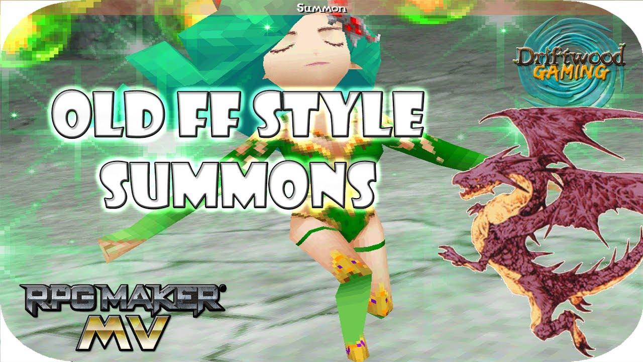 RPGMMV Tutorial - Final Fantasy IV, V, VI Summon Guide - RPG Maker MV  Tutorials