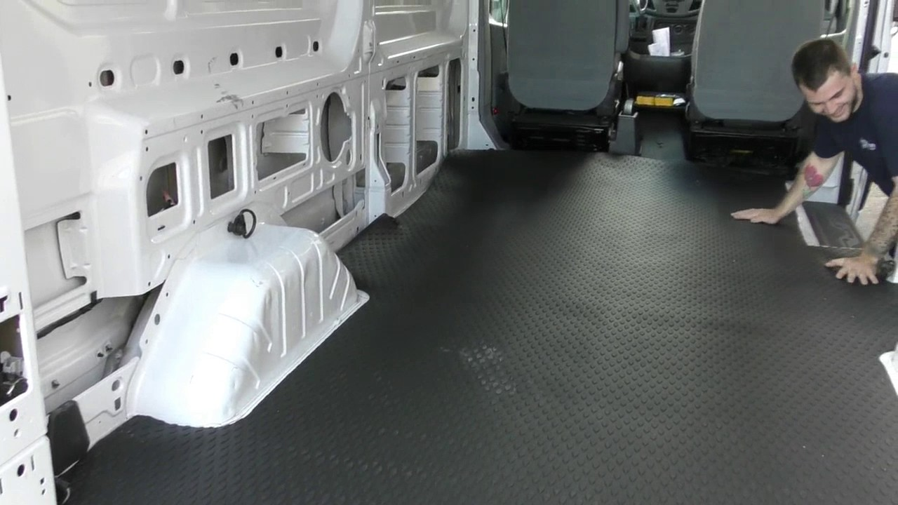 American Van Equipment Custom Fit Rubber Mat Ford Transit Youtube