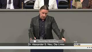 Alexander S  Neu , MdB: Völkerrechtswidrigen BW Militäreinsatz in Syrien u. Irak stoppen