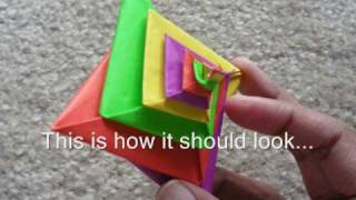 This video explains how to fold the Spiral by Tomoko Fuse. You need 4 sheets of paper of different colors of any combination of your choice. 2 sheets of 2 colors ...