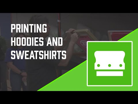 How to screen print on a sweatshirt - White ink