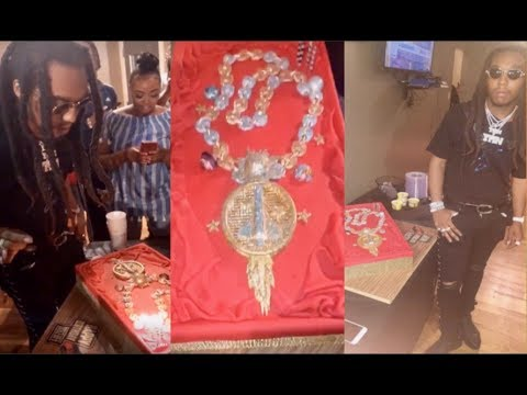 Takeoff gets ICED OUT Birthday Cake to Match his Solar System CHAIN!