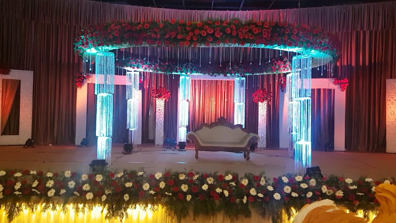 Wedding Reception Stage Decorations In Girideepam