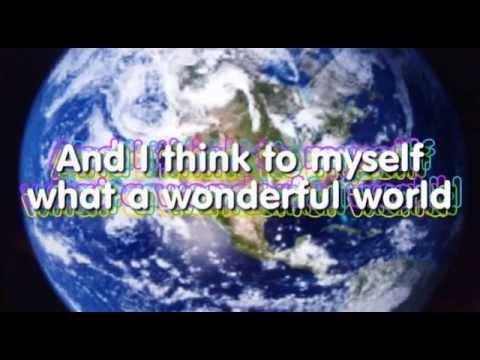 WHAT A  WONDERFUL WORLD KARAOKE Louis Armstrong instrumental lyrics video