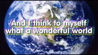 WHAT A  WONDERFUL WORLD KARAOKE Louis Armstrong instrumental lyrics video