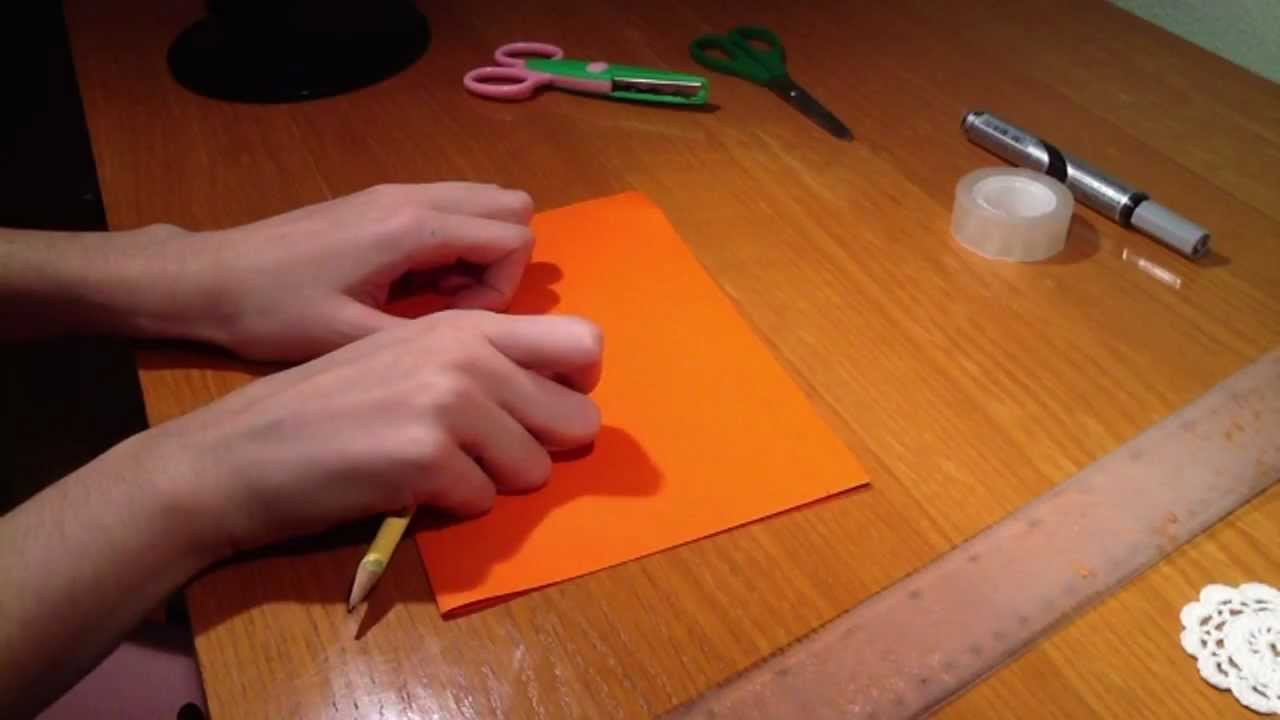 Manualidades e ideas para halloween - Calabaza de papel - YouTube