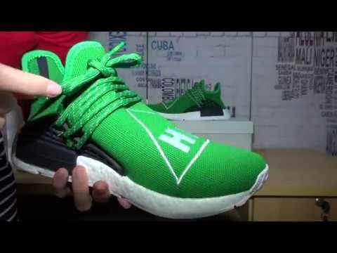 64fd8be8238c0 2016 Best Replica Pharrell Williams NMD Human HU Green Review - YouTube