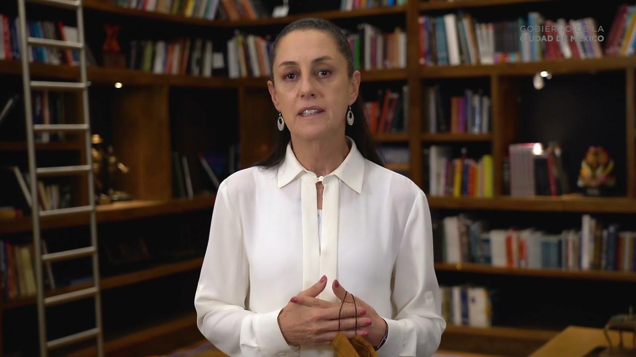 Saludos de la Dra. Claudia Sheinbaum, Jefa de Gobierno. UACM 20 años.