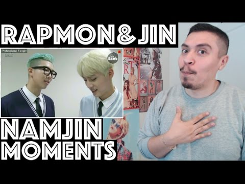 BTS NAMJIN (Rap Monster/Namjoon & Jin) MOMENTS REACTION