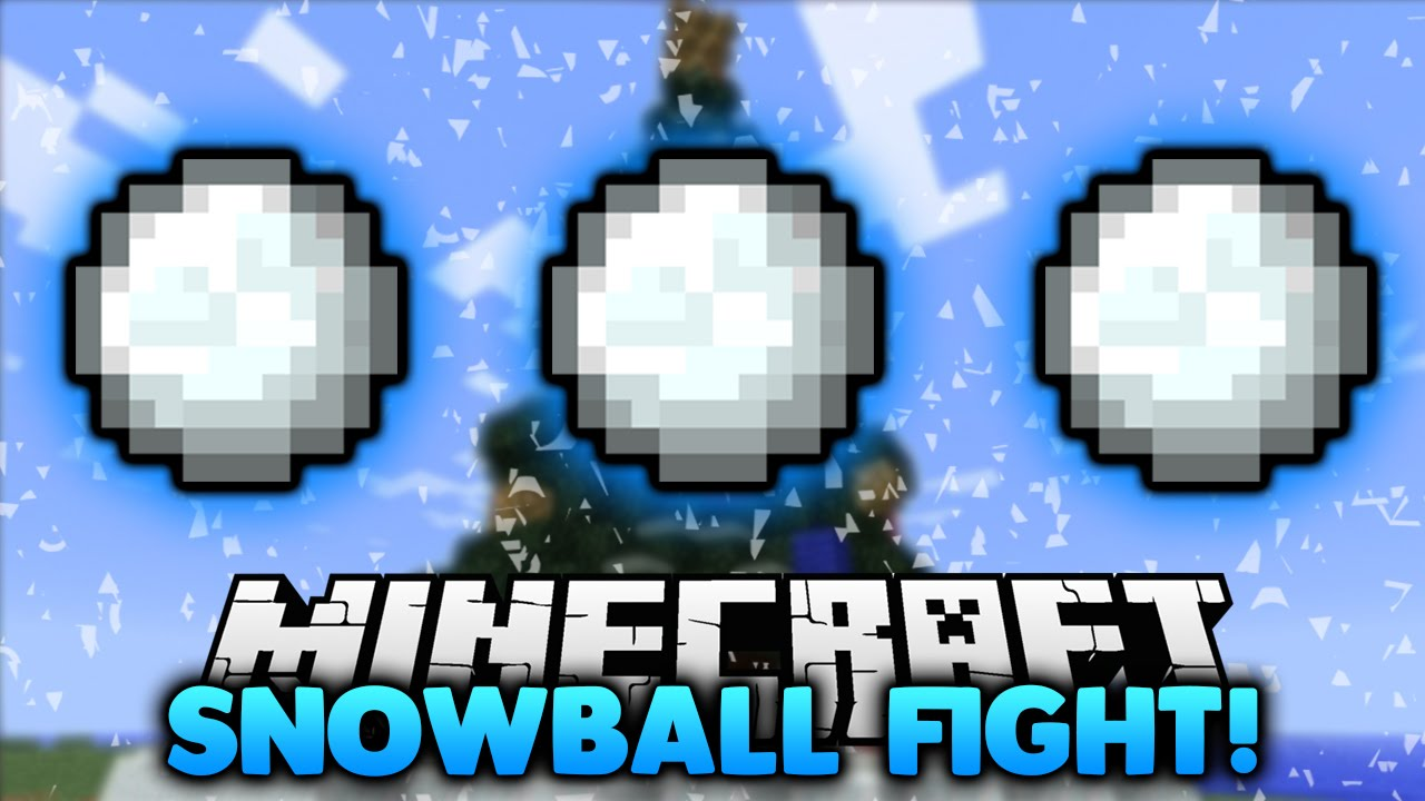 Minecraft SNOWBALL FIGHT with Brandon - YouTube