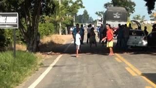 Protesto  a tarde na rodovia que liga Linhares a Rio Bananal