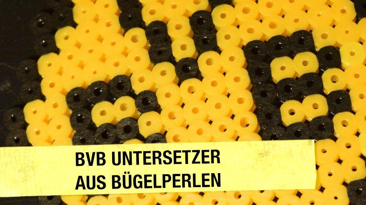 Diy Bvb Untersetzer Aus Bügelperlen Basteln Borussia Dortmund