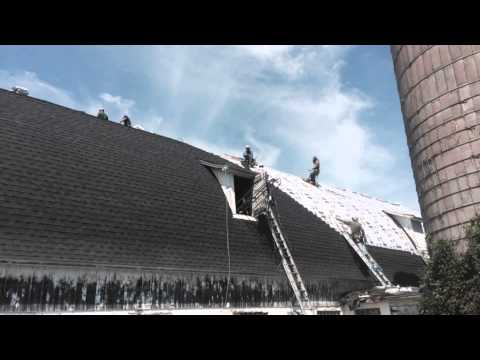Rice Lake Wi Gaf Asphalt Barn Roof Installation Youtube