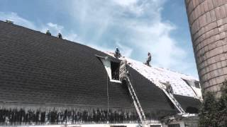 Rice Lake, WI GAF Asphalt Barn Roof Installation