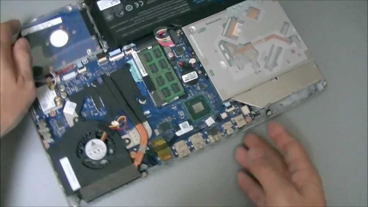 Dell Xps 14z Remove Hard Drive And Battery Youtube