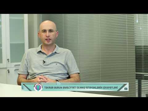 Təkrar Burun Estetik əməliyyatları L Uzman Dr. Elnur Əkbərov
