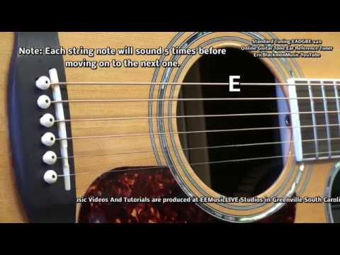 Ear Reference Tuner Guitar Standard Tuning EADGBE Video EricBlackmonMusicHD YouTube