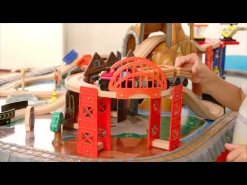 Waterfall Junction Train Set & Table by KidKraft - YouTube