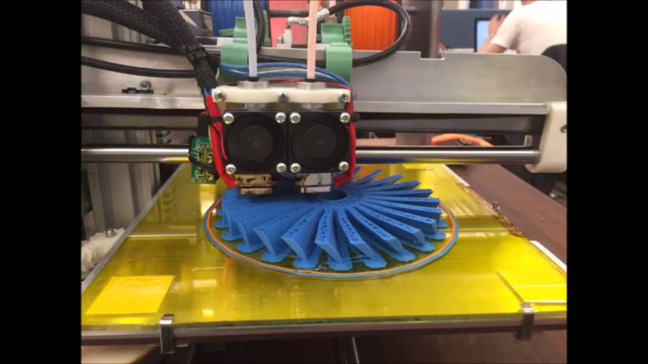 Dual 3D Printing a Turbo Fan  Modified RepRap Ormerod 2 (MEng Project)