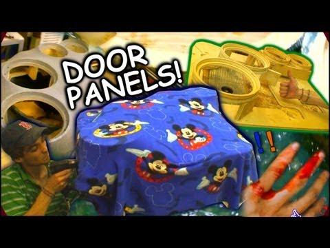 """Making Fiberglass Door Panels   EXO's Custom Car Audio Speaker Pod Tutorial For 2 10"""" & 6"""" Pods"""