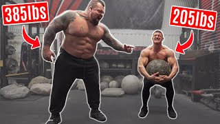 BODYBUILDER TRIES STRONGMAN | ft. Eddie Hall