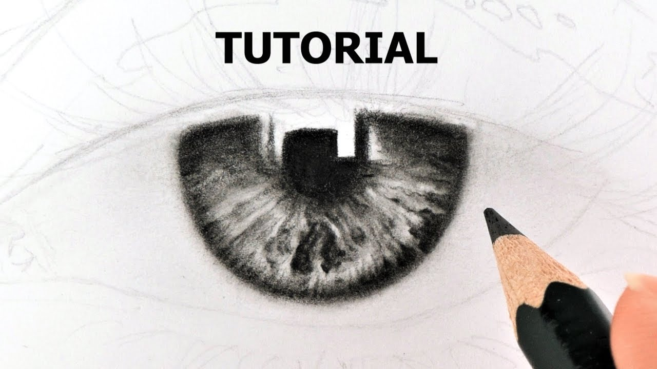 How to draw iris & eye tutorial youtube.