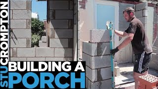 Bricklaying - How to build a porch for rendering