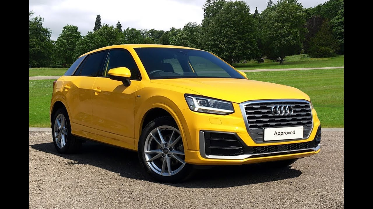 km66vmt audi q2 tfsi s line yellow 2016 bradford audi youtube. Black Bedroom Furniture Sets. Home Design Ideas