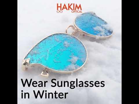 Wear Sunglasses in winter