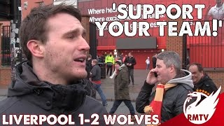 Liverpool v Wolves 1-2 | 'Support Your Team!' | LFC Fan Cam