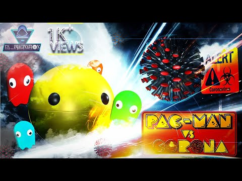 Pacman Vs Corona Virus | Pacman 3D Animation | Real Life | RKImagination