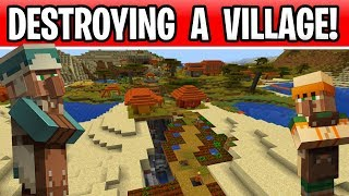 Minecraft Destroying A Village In 1.14 Without Harming Villagers!