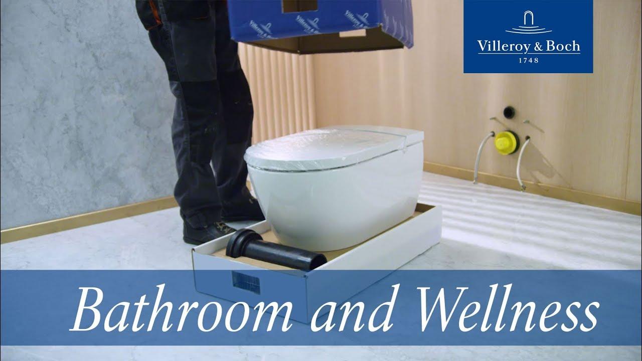 Installation instructions for ViClean-I 100 | Villeroy & Boch - YouTube