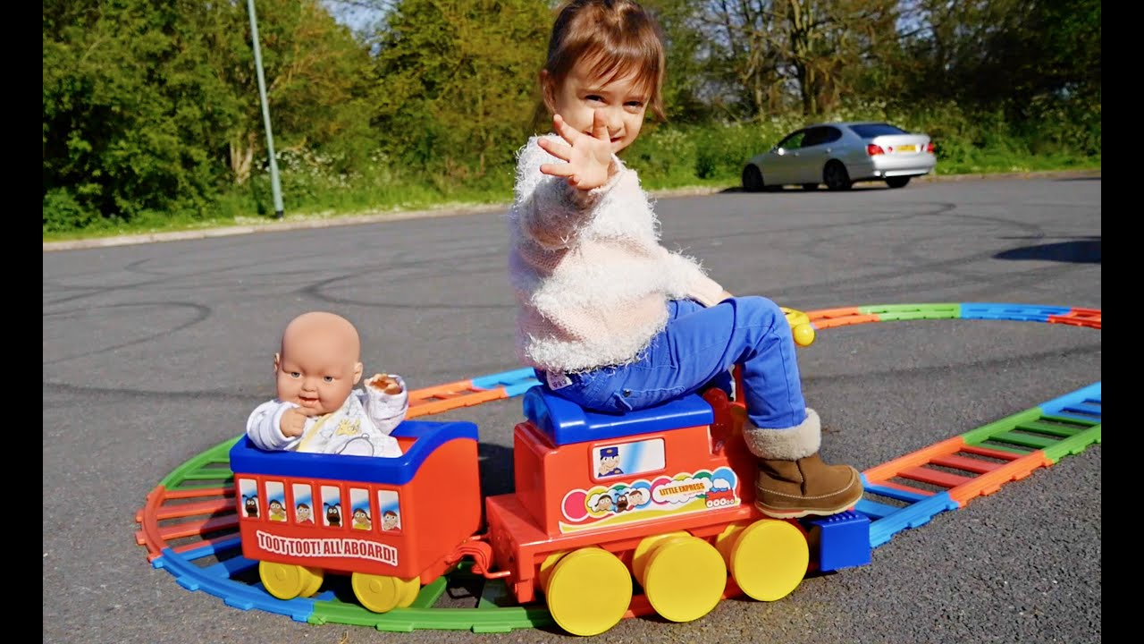 The Little Express Power Wheels Ride Train for Kids