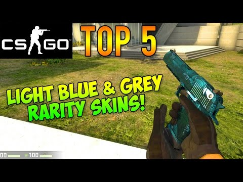 CS GO - Top 5 Grey & Light Blue Rarity Skins! (Best Cheap Industrial/Consumer Grade Skins)
