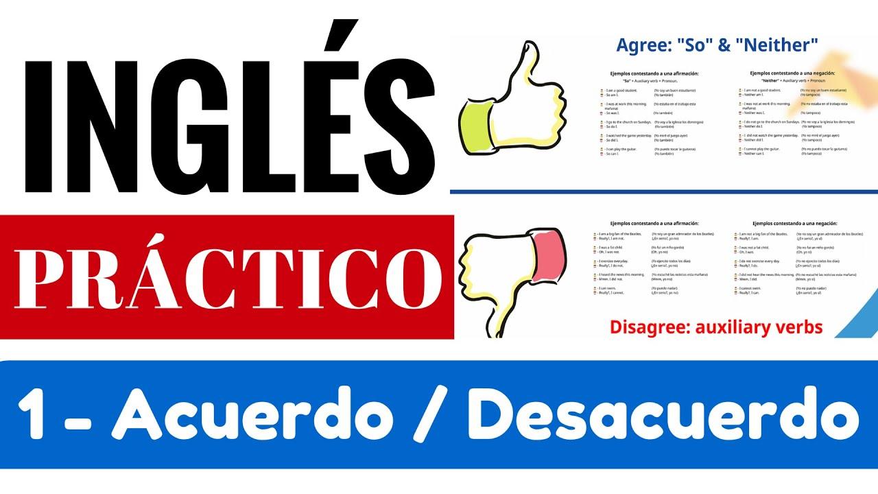 Expresar Acuerdo Y Desacuerdo En Inglés Universal De Idiomas