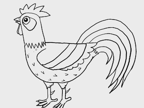 สอนวาดรูป การ์ตูน รูปไก่ ยากปานกลาง
