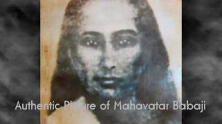 Meditation with an authentic photo of Mahavatar Babaji