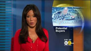 Sharon Tay 2011/11/02 8PM KCAL9 HD; Red dress