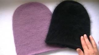 Вяжем  шапку бини спицами.