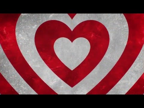 Video Background Loop Red Hearts Love