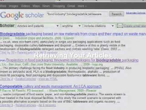 Google Scholar  The Basics