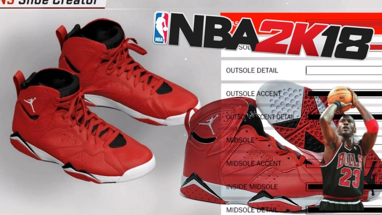 NBA 2K18 Shoe Creator | Air Jordan 7