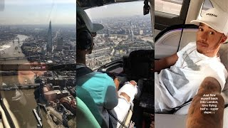 Flying Around London In A Helicopter! | Lewis Hamilton Snapchat Vlog
