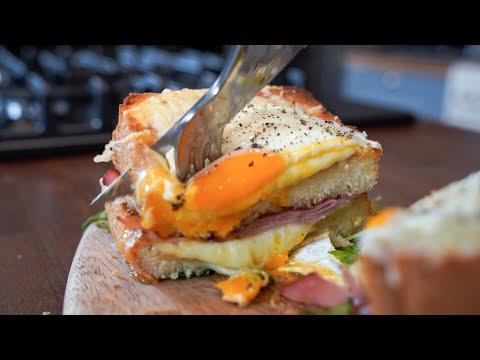 Δε θα ξανακάνετε άλλο πρωινό αν δοκιμάσετε αυτή τη συνταγή!! - Croque Madame Sandwich