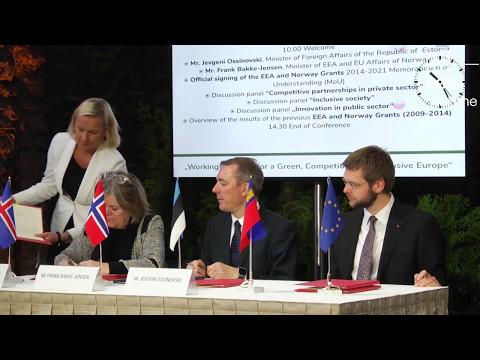 Signering av nye samarbeidsavtaler med Estland