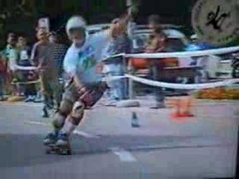Gianluca Ferrero's demo skateboard  Champion  - SLALOM STREET SURFING