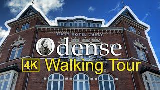 ⁴ᴷ⁶⁰ Hans Christian Andersen Town | Walking in Odense - Odense City tour | Walking Denmark 4k HD