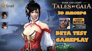 Dark And Light: Tales Of Gaia MMORPG by Snail Games Mobile Gameplay Beta Test