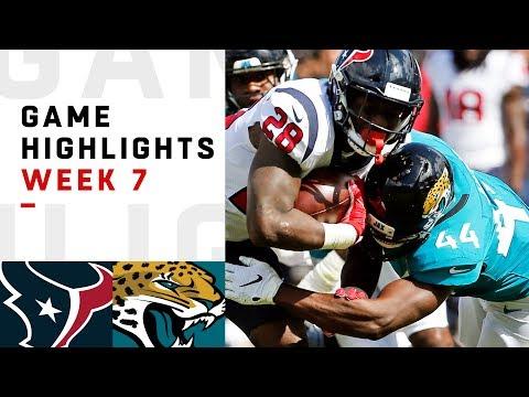 Texans vs. Jaguars Week 7 Highlights | NFL 2018